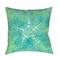 Sponge Paint Starfish Indoor/ Outdoor Pillow