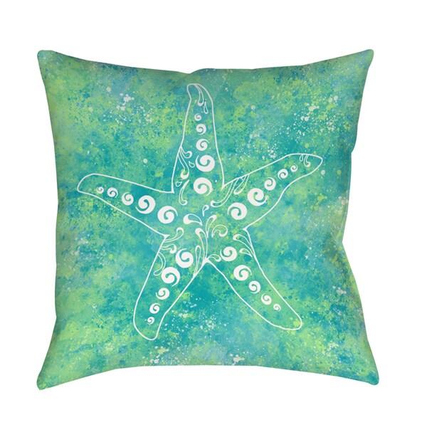 Sponge Paint Starfish Indoor/ Outdoor Pillow