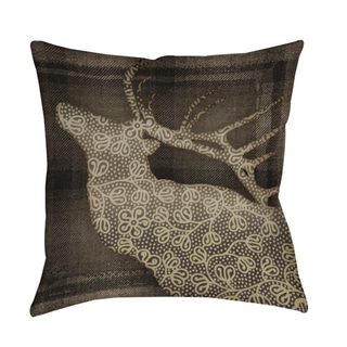 Deer Elegance Decorative Pillow