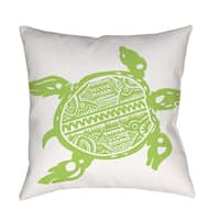 Honu Turtle Green Decorative Pillow