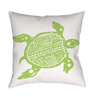 Honu Turtle Green Indoor/ Outdoor Pillow
