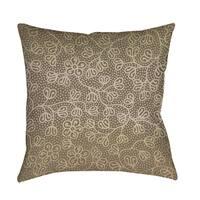 Deer Elegance Filigree Decorative Pillow