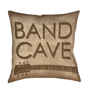 Band Cave Decorative Pillow