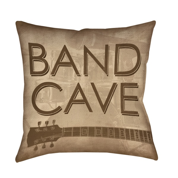Band Cave Decorative Pillow