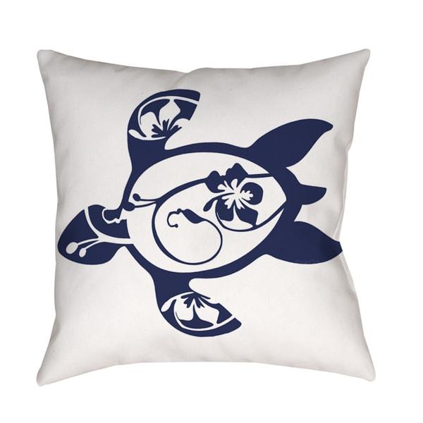 Honu Turtle Navy Indoor/ Outdoor Pillow