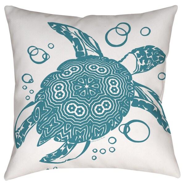 Honu Turtle Teal Decorative Pillow