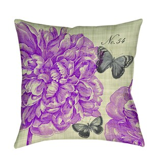 Butterflies and Peony Decorative Pillow