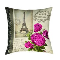 Springtime in Paris All Roses Decorative Throw Pillow