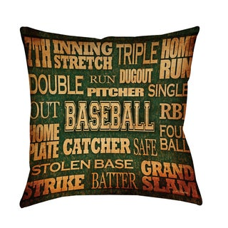 Baseball Words Decorative Pillow (5 options available)