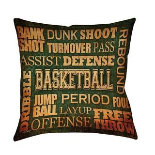 Thumbprintz Basketball Words Indoor/ Outdoor Pillow