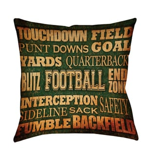Thumbprintz Football Words Indoor/ Outdoor Pillow