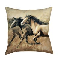 Galloping Horses Decorative Pillow