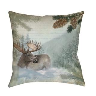 Conifer Lodge Moose Indoor/ Outdoor Pillow