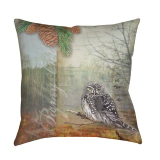 Thumbprintz Conifer Lodge Owl Indoor/ Outdoor Pillow