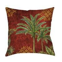 Palm Trees Decorative Throw Pillow