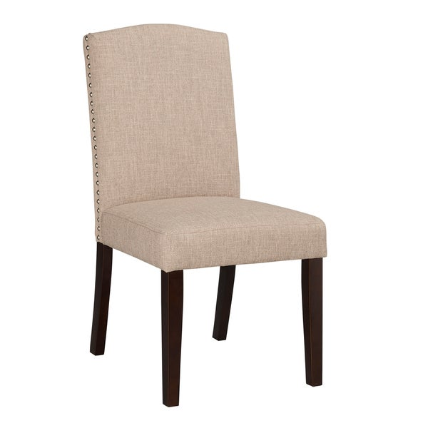 Champagne Parson Dining Chair Set of 2 Free Shipping