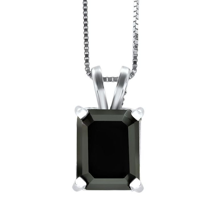 14k white gold 2 45ct tdw black emerald cut diamond solitaire 14k white gold 2 45ct tdw black emerald cut diamond solitaire pendant free shipping today overstock 17250644 aloadofball Choice Image