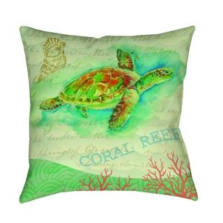 Thumbprintz Salty Air Sea Turtle Decorative Pillow