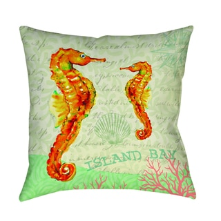 Salty Air Seahorse Decorative Pillow