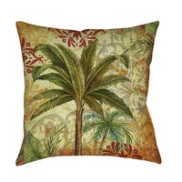 Palms Pattern Decorative Throw Pillow