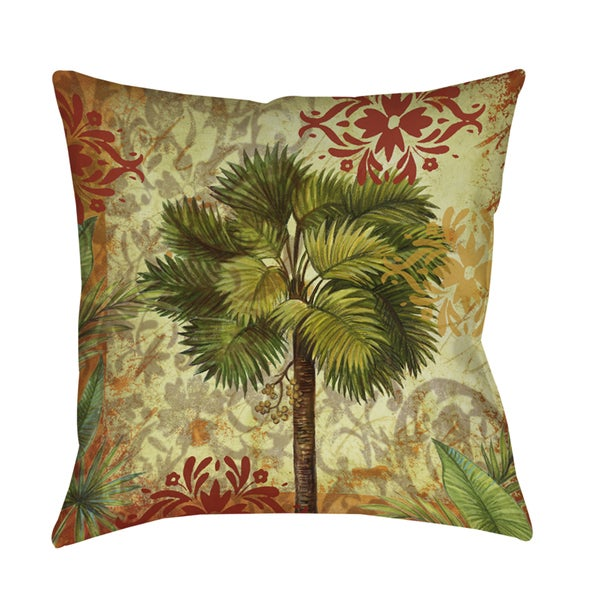 Decorative Throw Rugs: Shop Palm Pattern V Decorative Throw Pillow