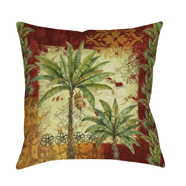 Shop Palm Patterns Decorative Throw Pillow On Sale Free Shipping Interesting Free Decorative Pillow Patterns