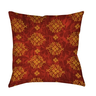 Thumbprintz Red Palms Decorative Throw Pillow