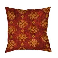 Red Palms Decorative Throw Pillow