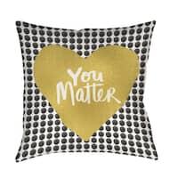 You Matter Heart Indoor/ Outdoor Pillow