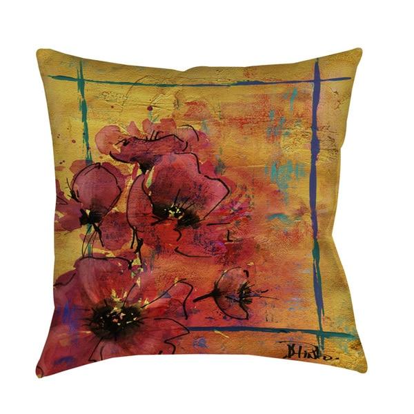 Shop Artistic Poppy I Decorative Pillow On Sale Free Shipping On Inspiration Poppy Decorative Pillows