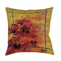 Artistic Poppy I Indoor/ Outdoor Pillow