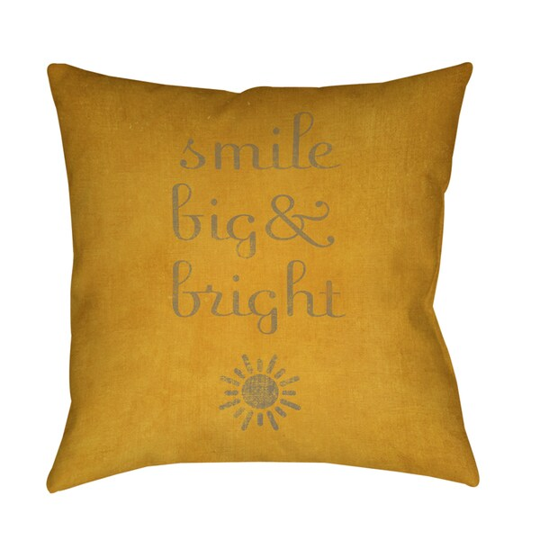 Smile Big and Bright Decorative Throw Pillow