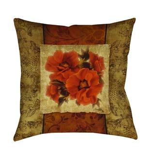 Thumbprintz Spice Flower II Decorative Throw Pillow