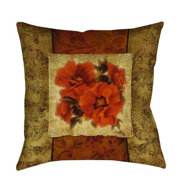 Spice Flower II Indoor/ Outdoor Pillow