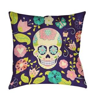 Sugar Skull Decorative Throw Pillow