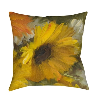 Sunflowers Square II Decorative Throw Pillow