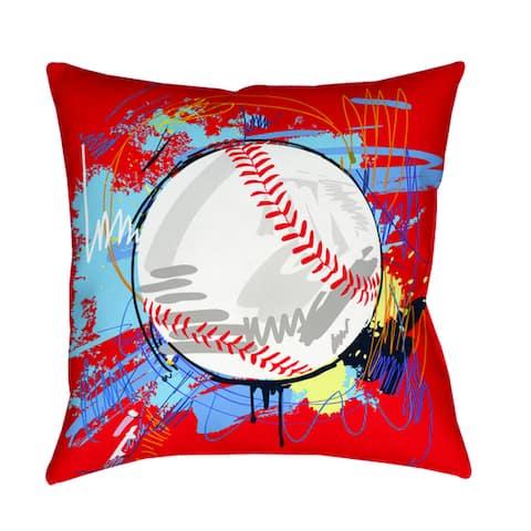 Baseball Homerun Decorative Pillow