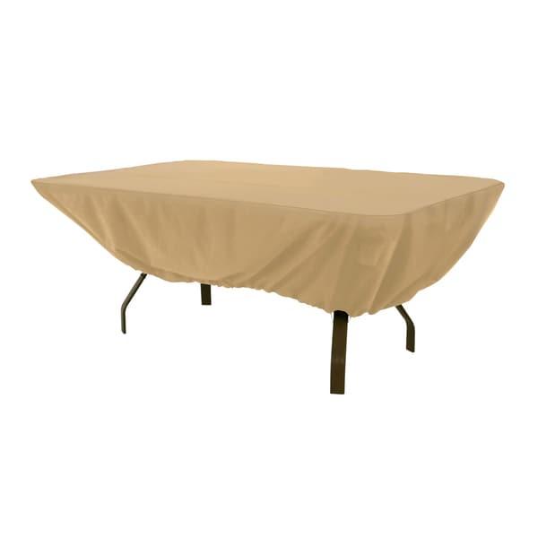 Clic Accessories 58242 Ec Terrazzo Rectangular Oval Patio Table Cover