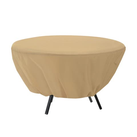 Classic Accessories Terrazzo Water-Resistant 50 Inch Round Patio Table Cover
