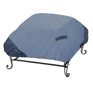 Classic Accessories Belltown Fire Pit Square Blue Cover