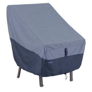 Classic Accessories Belltown Highback Patio Chair Blue Cover