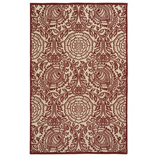Indoor/Outdoor Luka Red Zen Rug (8'8 x 12'0)