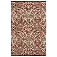 Indoor/Outdoor Luka Red Zen Rug - 8'8 x 12'0