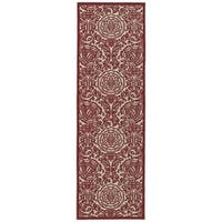 Indoor/Outdoor Luka Red Zen Rug (2'6 x 7'10)