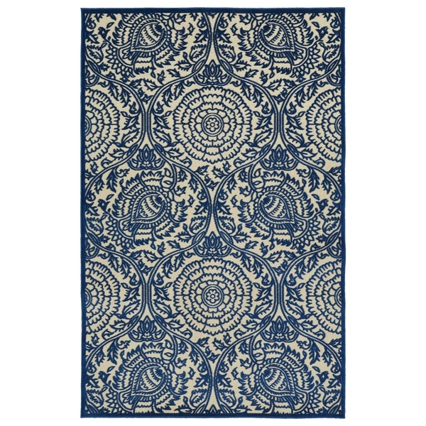 "Indoor/Outdoor Luka Navy Zen Rug (8'8 x 12'0) - 8'8"" x 12'"