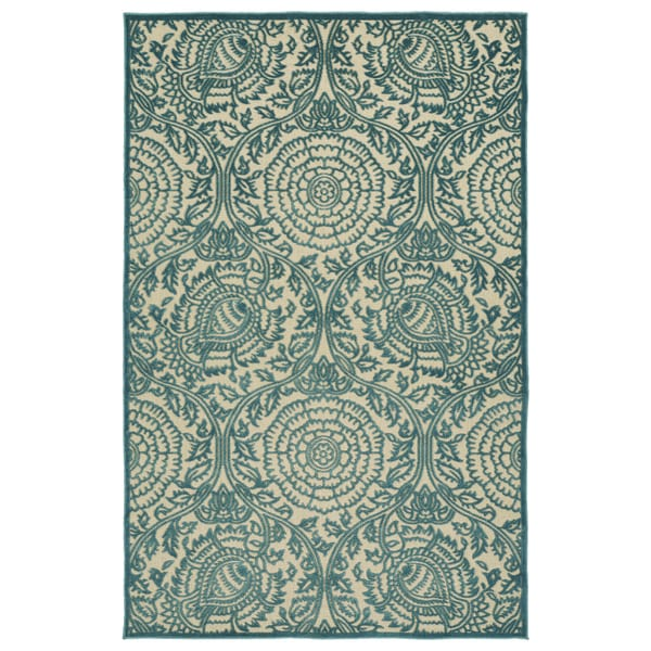 Indoor/Outdoor Luka Blue Zen Rug - 8'8 x 12'0