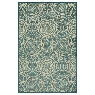 Indoor/Outdoor Luka Blue Zen Rug (7'10 x 10'8)