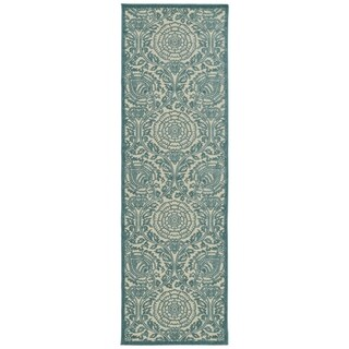 Indoor/Outdoor Luka Blue Zen Rug (2'6 x 7'10)