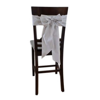 Oxford Charcoal Stripe Chair Tie (Set of 2)