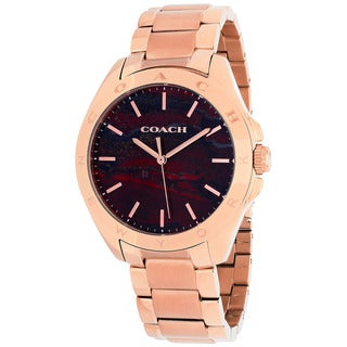 Coach Women's 14502054 Tristen Round Rose Gold-tone Bracelet Watch